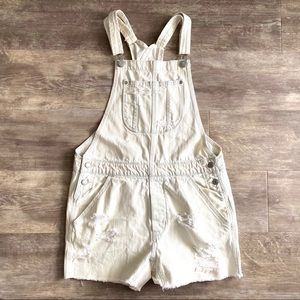 American Eagle S Light Wash Overalls Shortalls